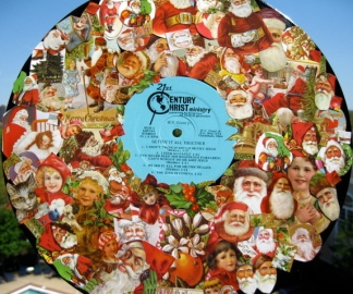 christ-is-for-christmas-collage---vintage-santas-on-vinyl-record_3470891125_o